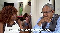 DON'T FUCK MY DAUGHTER - Ebony Teen Kendall Woods Sucks Dick Behind Parents' Backs