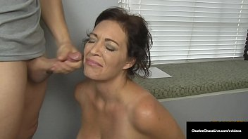 Husband's Employer Gets Milf Charlee Chase To Suck His Cock! 8 min