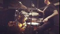 felicity feline drumming at sound studios