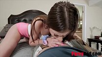 Brunette Teen Goes To DAD Begging for his OLD COCK- Winter Jade