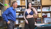 Patrolman bangs curvy big tit suspect in the office