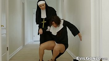Minister and three nuns roughly fuck young innocent newcomer