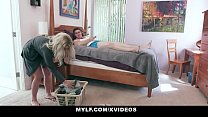 MYLF - Busty Milf (Madelyn Monroe) Lets Her Big Dick Stepson Fuck Her Raw