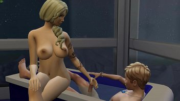 Mom And Son Bath Time
