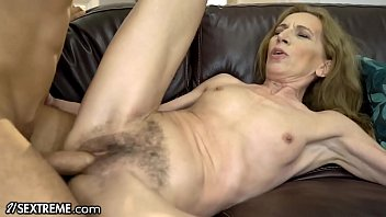 21Sextreme Bushy Granny Joined by Stud in Shower