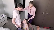 Skinny Mom Punishes Busty Daughter & f. her To Fuck Son- Bunny Colby