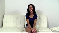 Petite amateur brunette gets fucked by a big dick