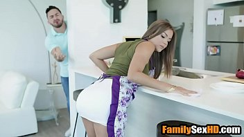 Step mom and son caught fucking by dad