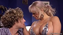 Young dude rough bangs tied busty Milf