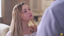OLD4K. Surprised dad receives blowjob from bewitching teen