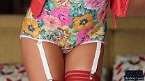 High heels and sexy lingerie MILF Christiana Cinn stripping