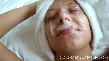 Facial Cumshot Colombian girls Amateur compilation ... full videos @ 12 min