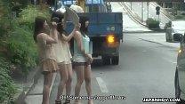 Japanese teens, Shiori, Nozomi and Yuuko, uncensored