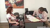 Busty Redhead Schoolgirl Pounded By Professor After Blowing His Big Cock 10 min