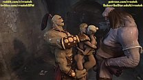 3D Monster Animation Goro and Cyclop fucking Sonya and Cassie Cage