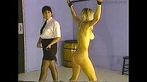 Painful punishment of a slender blonde Jacque
