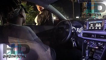 white lady catches teen jerking off in a car New Orleans style [Vicky Verona & handsomedevan