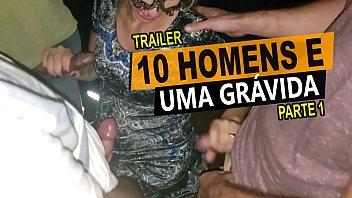 10 homens e uma grávida, Cristina Almeida em um menage no cinema com vários desconhecidos, casal amador - Kratos Parte 1/4
