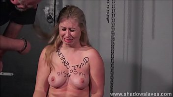 b. tit whipping to tears and pussy punishment of humiliated bdsm slaveslut Masie Dee