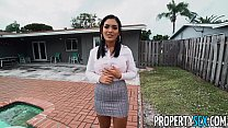 PropertySex Hot Agent With Great Ass Fucks Handyman