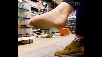 Shoeplay Girlfriend pulls  High Heels high heels, high heels shoes, with her sweaty nylon feet, Nylons, shoeplay, Dangling candid