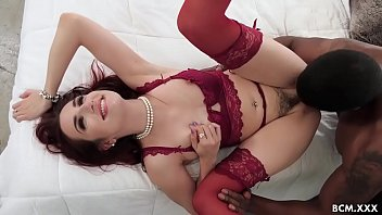 Glamorous Redhead Babe Enjoys Fucking Her First BBC After Deepthroating The Big Cock