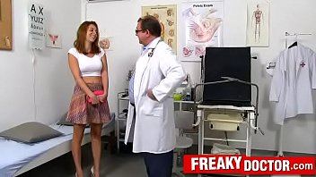 Antonia Sainz a busty babe fucking-machine treatment by daddy doctor