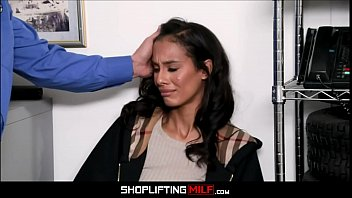 Petite Black MILF Kylie La Beau Caught Shoplifting Jewelry Fucked To Orgasm By White Officer