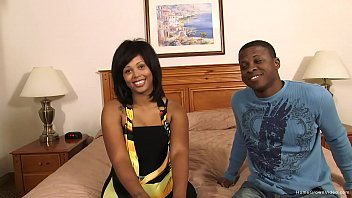 Kinky black couple fuck on camera for the first time