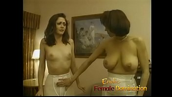 Busty dominant milfs team up to toy with a hot babe