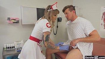 Ts nurse Lena Kelly gives guy anal exam