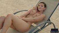 Curvy MILF model Sybil A Kailena strips naked for us