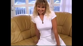 Hungarian gal with golden hair and small tits Niky Montana is fond of dancing chocolate cha-cha-cha with well hung stud