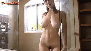 Dawn Allison Dawnsplace Milf with Natural 32ddd tits tease - Glass Cleaner 6 min