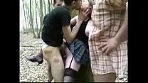 My hot slut having fun with strangers outdoor