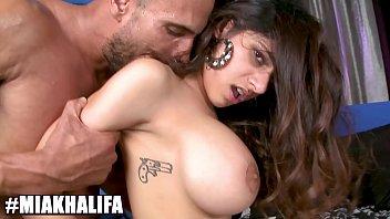 BANGBROS - Big Tits Muslim Princess Mia Khalifa Riding Dick, Looking Damn Good