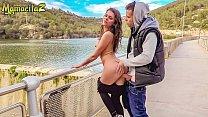 MAMACITAZ - Wild Russian Babe Verona Sky Bangs By The River With Spanish Stud 12 min