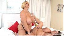 Busty BBW Pornstars Samantha 38G and Maria Moore in hot Lesbian Sex