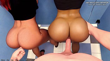 Being a DIK | Two hot college teens with big asses get pussy fucked and creampied in a public restroom | My sexiest gameplay moments | Part #8