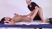 Alga Ruhum Petite babe softcore massaged