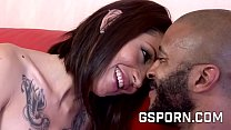 The slut Coco Velvet fucked by a big black dick