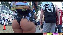 Super hot ass bikini raver teens voyeur spy video