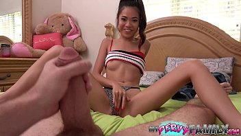 Daddy Caught Petite Asian Teen Fucking Her Stepbrother