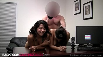 Dark Skinned 18 year olds Crystal & Jane Get Ass Fucked & Cummed On!