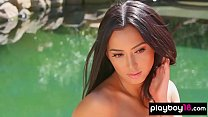 Cute Alexandra Young strips down and poses sensually
