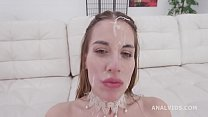 Blackened Eveline Dellai gets 3 BWC and 3 BBC for Balls Deep Anal, DAP, Gapes, Swallow and Facial GIO1472