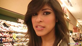 Extrem Hairy Pussy Latina Teen Talk to Fuck at Pick Up Casting 19 min