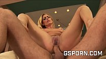 Sexy natural blonde milf fucked in her ass by a hard dick