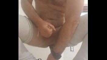 Gglock stocking cum dildo ride