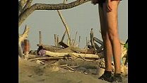 Girlfriend sucks my cock on the public beach in front of many strangers - MissCreamy